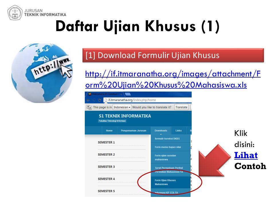 Daftar Ujian Khusus (1) [1] Download Formulir Ujian Khusus